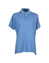 Napapijri Topwear Polo Shirts Men Azure