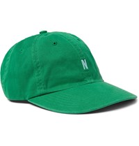Norse Projects Logo Embroidered Cotton Twill Baseball Cap Green