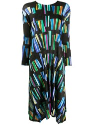 Issey Miyake Pleats Please Relaxed Fit Geometric Print Dress 60