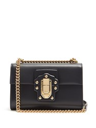 Dolce And Gabbana Lucia Leather Shoulder Bag Navy