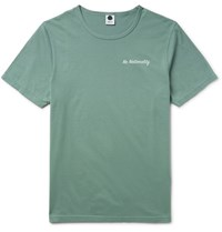 Nn.07 Nn07 Slim Fit Printed Cotton Jersey T Shirt Sage Green