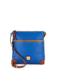 Dooney And Bourke Pebbled Leather Crossbody Bag Blue
