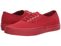 Vans Authentic Primary Mono Red Silver Skate Shoes