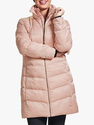 Four Seasons V Shaped Quilted Coat Rose Gold