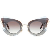 Miu Miu Cat Eye Sunglasses Grey