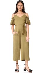 Whistles Yasmin Strappy Jumpsuit Olive
