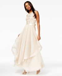 Say Yes To The Prom Juniors' Embellished Layered Gown A Macy's Exclusive Medium Sand