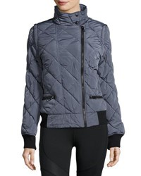 Marc New York Asymmetric Zip Moto Puffer Jacket Black
