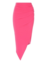 Jane Norman Asymmetric Hem Wrap Skirt Pink