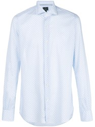 Orian Optical Print Shirt White