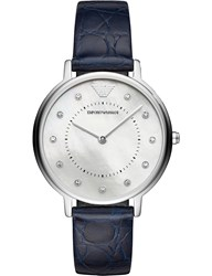 Emporio Armani Ar11095 Kappa Mother Of Pearl Stainless Steel Quartz Watch Blue