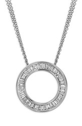 Bony Levy Women's 'Circle Of Life' Medium Diamond Pendant Necklace Nordstrom Exclusive White Gold