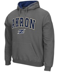 Colosseum Men's Akron Zips Arch Logo Hoodie Charcoal
