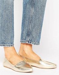 Call It Spring Cadenasen Metallic Point Flat Shoes Gold