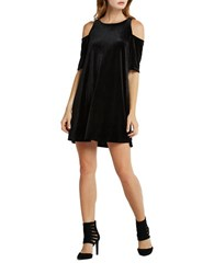 Bcbgeneration Cold Shoulder Shift Dress Black