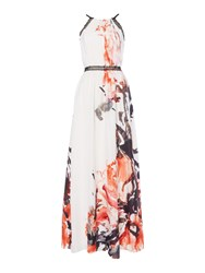 Little Mistress Long Sleeved Printed Maxi Multi Coloured Multi Coloured