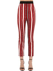 Haider Ackermann High Waist Striped Jacquard Pants Multicolor