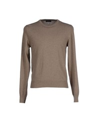 Blu Knitwear Jumpers Men Khaki