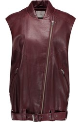 Iro Abrega Leather Vest Burgundy