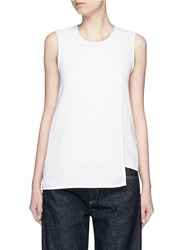 Acne Studios 'Maela Sable' Asymmetric Layer Sleeveless Top White