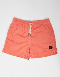 Bellfield Rolly Swim Shorts Coral Pink