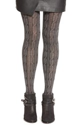 Women's Hue 'Cable Knit Sweater' Print Tights Filament