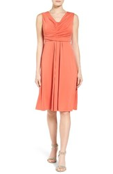 Nic Zoe Women's City Retreat Surplice Fit And Flare Dress