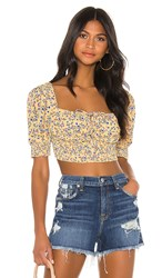 Beach Riot Daisy Blouse In Yellow.