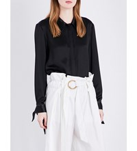Sharon Wauchob Tie Detail Satin Shirt Black