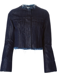 Marques Almeida Bell Sleeve Denim Jacket Blue