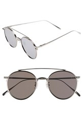 Women's Gentle Monster 'If On' 52Mm Metal Aviator Sunglasses Silver