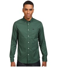 Rvca That'll Do Oxford L S Sequoia Green Men's Long Sleeve Button Up Black