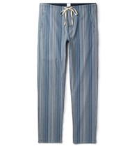 Paul Smith Striped Cotton Pyjama Trousers Blue