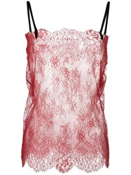 Philosophy Di Lorenzo Serafini Lace Cami Top Red