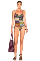 Missoni Mare One Piece In Purple Abstract Purple Abstract
