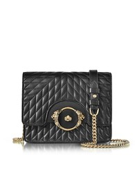 Roberto Cavalli Star Black Quilted Nappa Leather Shoulder Bag