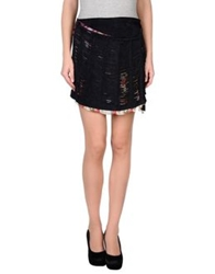 Roberto Cavalli Mini Skirts Steel Grey