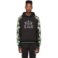 Dolce And Gabbana Black Orchid Printed Hoodie