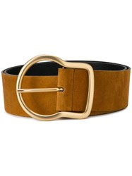 Dorothee Schumacher Gold Tone Buckle Belt Brown