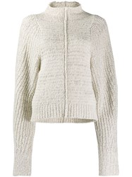 Isabel Marant Oversized High Neck Sweater Neutrals