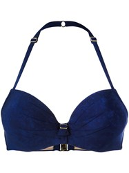Marlies Dekkers Puritsu Push Up Bikini Top Women Polyamide Polyester Spandex Elastane 75C Blue