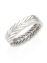 John Hardy Modern Chain Sterling Silver Hinged Bangle