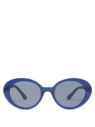The Row X Oliver Peoples Parquet Sunglasses Navy