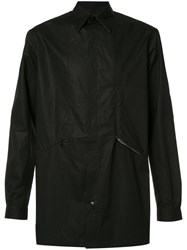 Y 3 Button Up Shirt Jacket Black