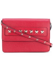 Red Valentino Star Studded Crossbody Bag Women Calf Leather One Size Red