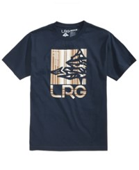 Lrg Men's Retainer Icon Graphic T Shirt Navy