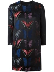 Philipp Plein Butterfly Patterned Coat Black