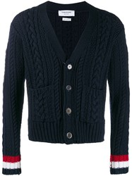 Thom Browne Cable Knit V Neck Cardigan 60