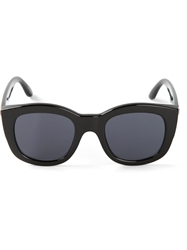 Le Specs Thick Rim Sunglasses Black