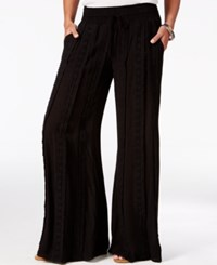 American Rag Crocheted Wide Leg Pants Only At Macy's Black